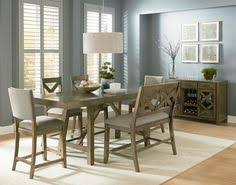 love my new table 6 piece omaha weathered grey counter height trestle table cal dining