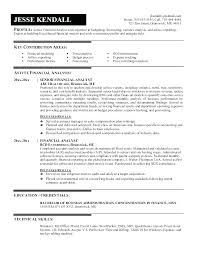 Financial Resume Template Extraordinary Best Formats For Resumes Resume For Financial Analyst Financial