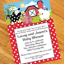 moo invitations farm baby shower personalized invitations