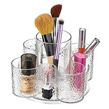 hair brush organizer. Perfect Hair MDesign Textured Cosmetic Organizer Spinner For Vanity Cabinet To Hold  Makeup Hair Brushes Beauty Throughout Brush S