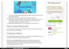Track Sales Leads How To Track Sales Leads