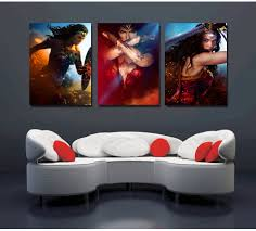 3 PiecesSet Wonder Woman Canvas Print  Free ShippingWonder Woman Home Decor