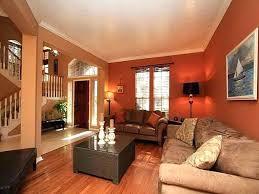 warm bedroom color schemes. Warm Bright Bedroom Colors Color Schemes Deep Orange Wall With Velvet Beige Sofa