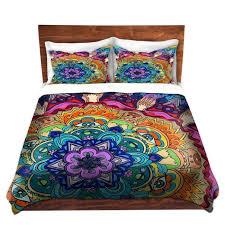 cool funky bed pillow shams standard and king rachel brown microcosm mandala bedding duvet covers