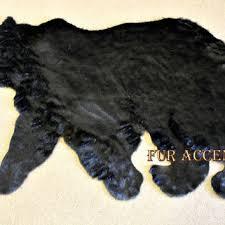 plush soft faux fur fabric black bear skin rug fake bearskin teddy bear faux taxidermy toss