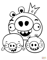 Small Picture King Pig Corporal and Minion coloring page Free Printable