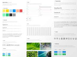 Style Template Style Guide Template Sketch Freebie Download Free Resource For