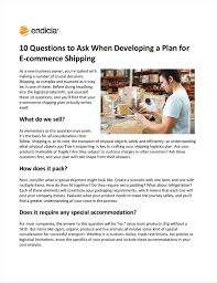 Questions To Ask Business Owners 10 Questions To Ask When Developing A Plan For E Commerce