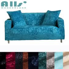 couch covers blue. Fine Couch Blue Embossing Couch Sofa Covers 100 Polyester Stretch Furniture  Home Decoration Slipcovers To Couch Covers