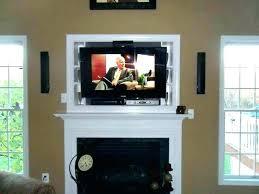 tv over fireplace designs flat screen