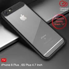 harga calandiva transpa premium case iphone 6 plus 6s plus black hitam baru