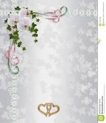 Free Invitation Background Designs Orchids Wedding Invitation Border Stock Illustration Illustration