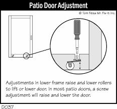 patio door sticks in winter