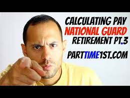 Calculating Retirement Pay In The National Guard