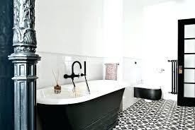 Black And White Cement Tile Cement Tile Bathroom Black White