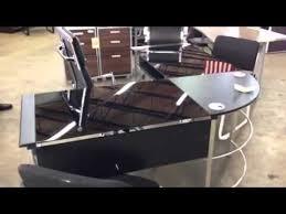 glass l shaped desk in miami