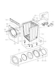 Cabi and door assembly parts diagram parts list for model dle2140w lg parts dryer parts searspartsdirect