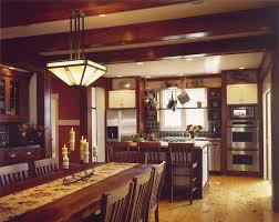 craftsman lighting dining room. craftsman style dining table kitchen with arts and crafts ceiling lighting room l