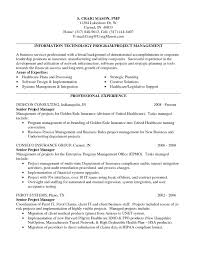 Project Management Cv Examples Resume Sample Senior It Ma Sevte