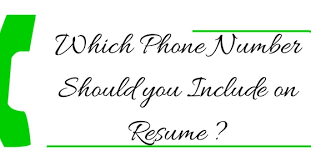 Phone Number On Resume Which Phone Number On Resume Should You Include Wisestep