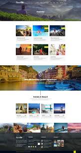 Tourism Web Design Inspiration Travelon Tour Travel Agency Psd Template Hotel Website