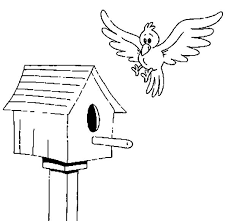 Small Picture Bird about to Land on Bird House Coloring Pages Best Place to Color