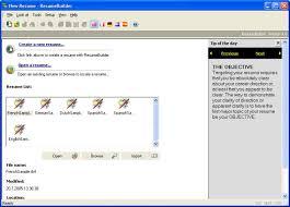 resume builder resume builder software free download