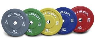 Bison™ Colour Olympic Lifting Bumper Plates \u2013 Wolverson Fitness