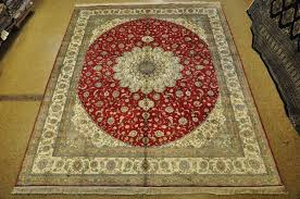 details about tabriz red ivory handmade area rug 8x10 t area rugs silk
