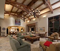 Living Room:Fascinating Living Room Design Ideas For Vaulted Ceiling With  Double Black Chandelier And