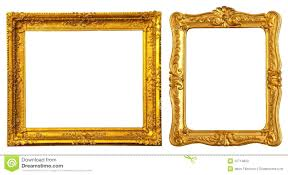 Decorative Ornate Gold Frame Label Vector Image Antique Black And
