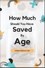 How Much Should I Have Saved By Age Saving Money Saving