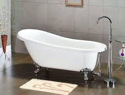 image of dimensions of a clawfoot bathtub