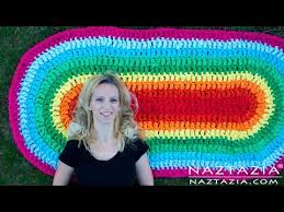 diy tutorial how to crochet oval rag rug floor carpet from fabric sheets
