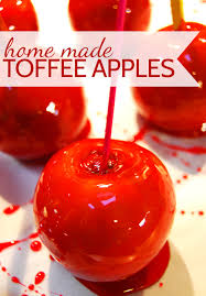 Image result for toffee apples