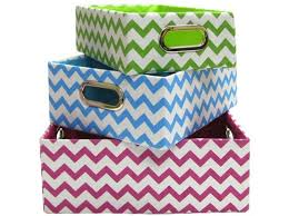 Decorative Storage Box Sets Bright Chevron Fabric Storage Box Set Shop Hobby Lobby cool 22