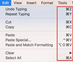 Image result for Cut, copy and paste on mac