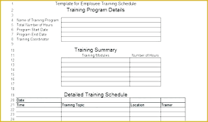 training plan template word employee training schedule template program calendar sample