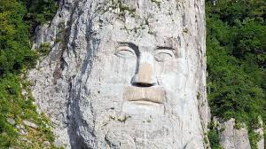 Rock Sculpture rock sculpture of decebalus seeing from boat on danube youtube 1131 by xevi.us