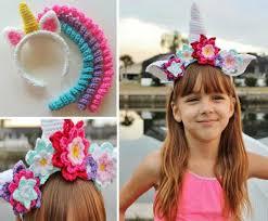 Crochet Patterns For Headbands Mesmerizing Crochet Unicorn Headband Pattern
