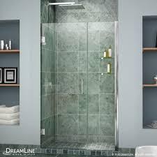 dreamline unidoor min 42 to max 43 frameless hinged shower door clear 3