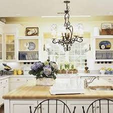 white country kitchen with butcher block. Country Kitchen Ideas Cabinets, Islands And Butcher Block Counters White With