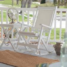 simple white rocking chair