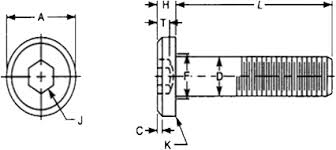 Socket Cap Screw Chart Low Head Socket Cap Screw Dimensions