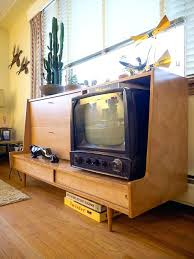 mid century modern tv stand nd concels flt tht re s drwers walnut diy