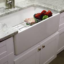 highpoint collection 30 inch single bowl fireclay farmhouse kitchen sink with grid and drain apron kitchen sink kitchen