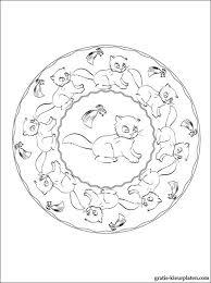 Mandala Met Kittens Voor Om Te Kleuren Gratis Kleurplaten