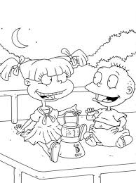 Small Picture Printable Rugrats Coloring Pages Coloring Me