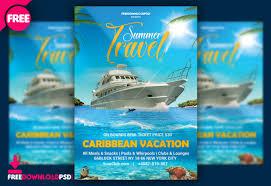 Free Summer Travel Flyer Template Psd Freedownloadpsd Com