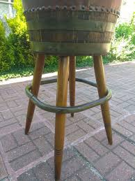3 vintage seng chicago stools swivel whiskey barrel bar chairs mid century antiques furniture in lansing il offerup